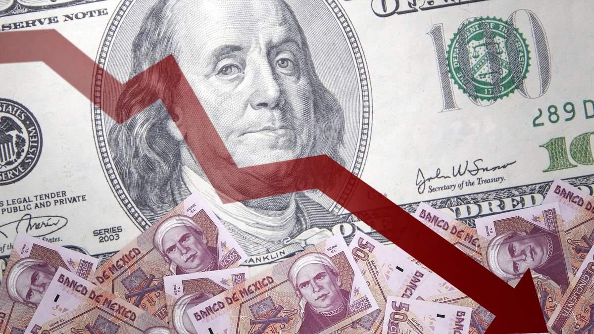 Доллар в сентябре 2020 упал к евро, фунту, юаню, иены, франка