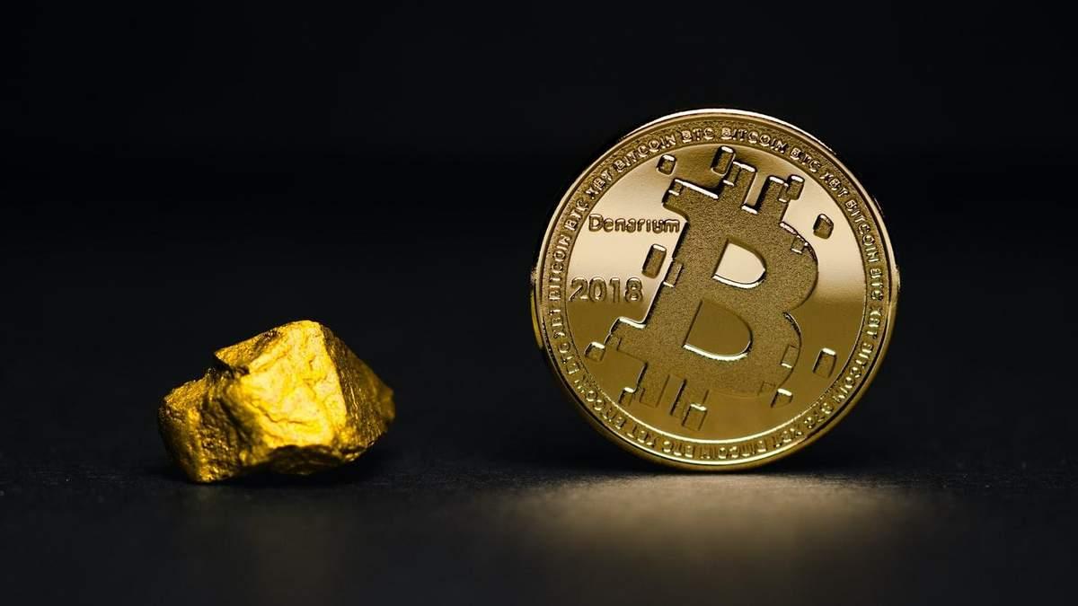 Біткойн конкурує з золотом